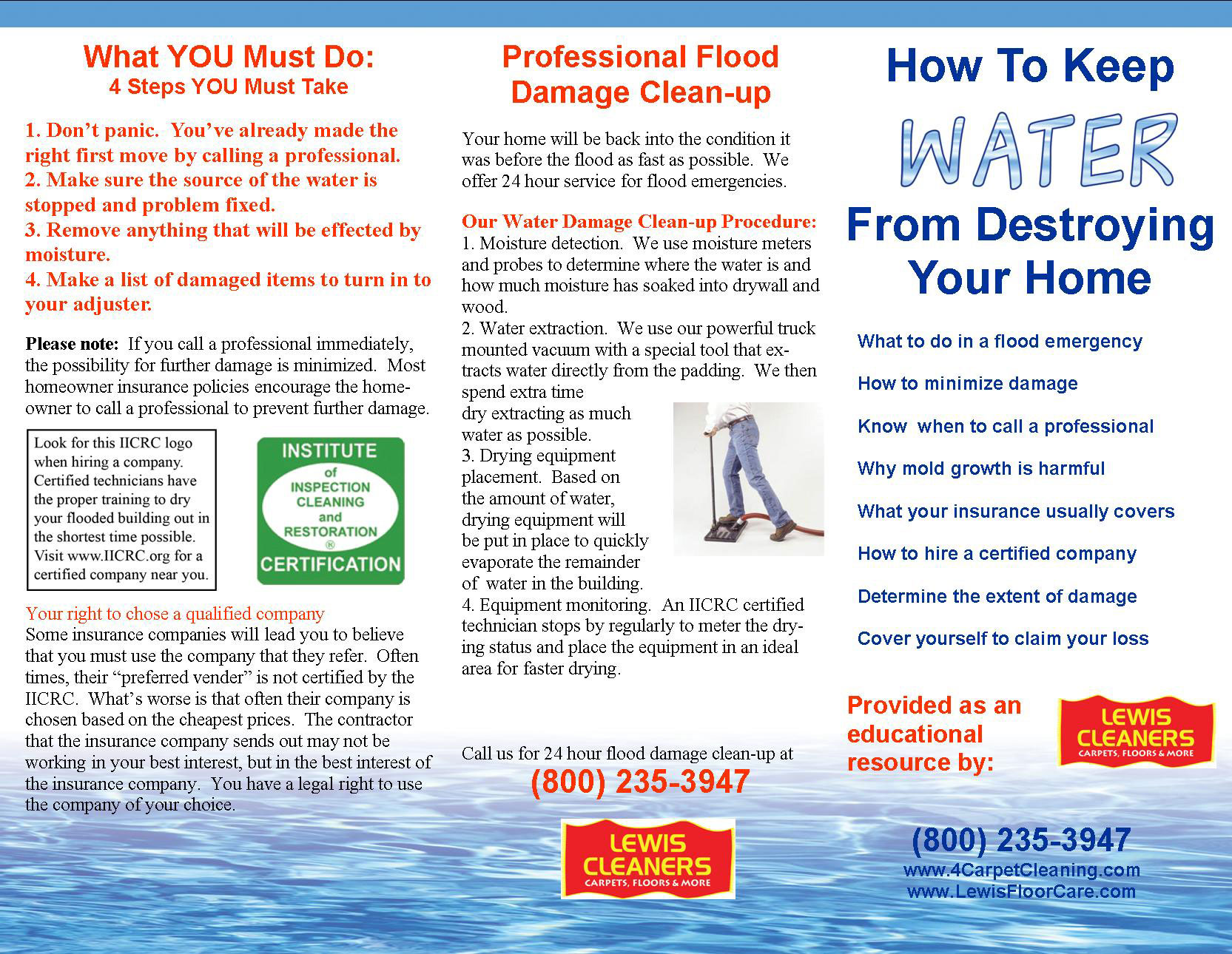Water Damage Restoration Redwood City Lewis Cleaners